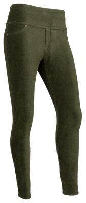 Natural Reflections Corduroy Leggings for Ladies - Forest Night - L