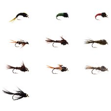 White River Fly Shop 10-Piece Classic Nymphs Fly Assortment