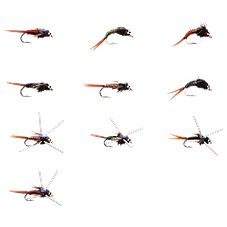 White River Fly Shop 10-Piece Classic Copper Body Nymphs Fly Assortment