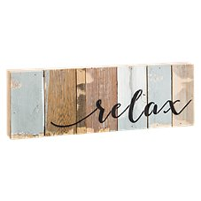 Sweet Bird & Co. Relax Reclaimed Wood Sign