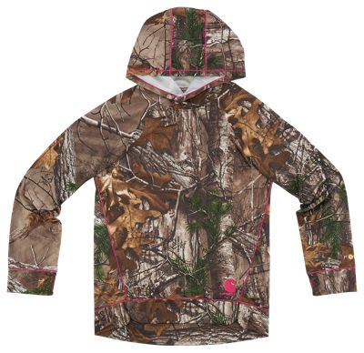 ?Carhartt Force Camo Pullover Hoodie for Girls? - Realtree Xtra - 4 thumbnail