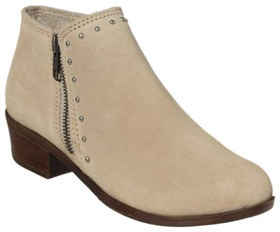 Minnetonka Moccasin Brie Side-Zip Boots for Ladies - Stone - 10M