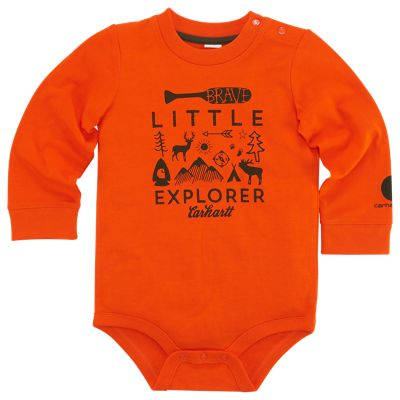 Carhartt Little Explorer Bodysuit for Baby Boys - Blaze Orange - 3M thumbnail