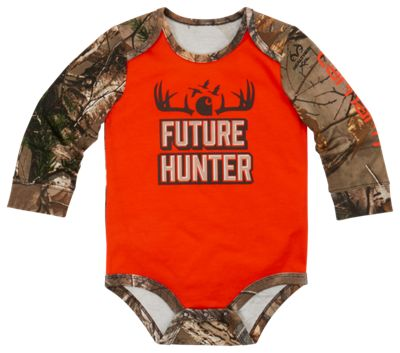 Carhartt Future Hunter Bodysuit for Baby Boys - Blaze Orange/Realtree Xtra - 3M thumbnail