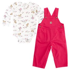Carhartt Meadow Horse Overalls Set for Baby Girls