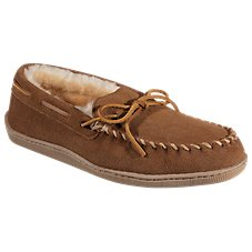 Minnetonka Moccasin Sheepskin Hardsole Mocs for Men