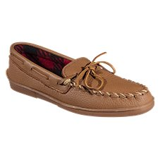 Minnetonka Moccasin Moosehide Fleece Moc Slip-On Shoes for Men