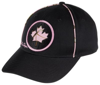 ?Bass Pro Shops Canada Maple Leaf Cap for Ladies - Black/TrueTimber Conceal Pink thumbnail