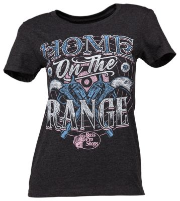 Bass Pro Shops Home on the Range T-Shirt for Ladies - Charcoal Heather - M