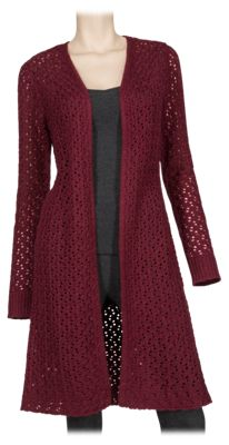 Bob Timberlake Open Knit Duster Sweater for Ladies - Tawny Port - XS