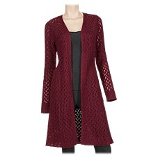 Bob Timberlake Open Knit Duster Sweater for Ladies