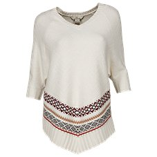 Bob Timberlake Jacquard Poncho Sweater for Ladies