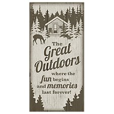Reflective Art The Great Outdoors Wood Wall Art