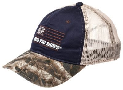 Bass Pro Shops American Flag Camo Bill Mesh Back Cap | Bass