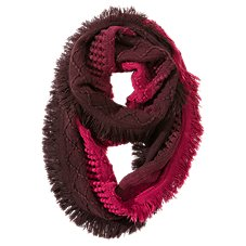 Quagga Dipped and Fringed Infinity Scarf for Ladies