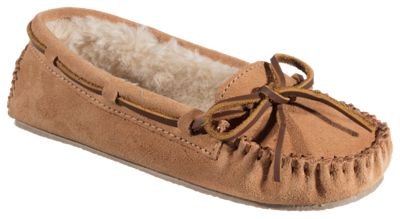 Minnetonka Moccasin Cally Moccasin Slippers for Ladies - Cinnamon - 11M