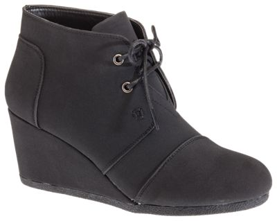 Natural Reflections Shanna Wedge Ankle Boots For Ladies Black 8.5m