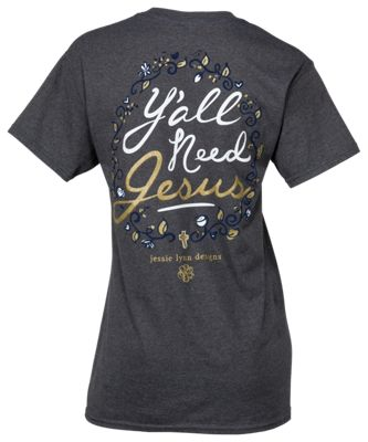 Itsa Girl Thing Y'All Need Jesus Short-Sleeve T-Shirt for Ladies - Grey - L
