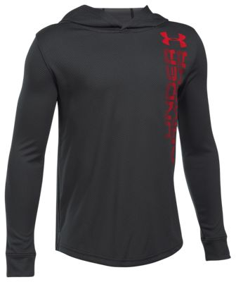 Under Armour Tech Hoodie for Boys - Black - XS