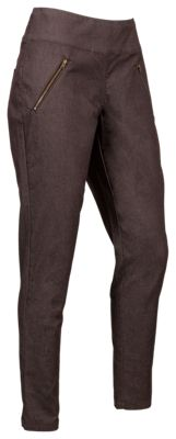 Natural Reflections Pull-On Zipper Pocket Pants for Ladies - Java - 14