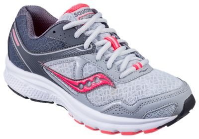 Saucony Cohesion 10 Running Shoes for Ladies GreyBlackCoral 85M