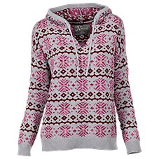 Natural Reflections Fair Isle Hoodie for Ladies