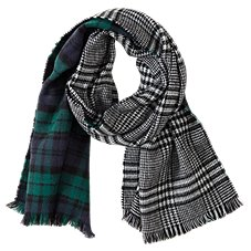 Quagga Double Plaid Scarf for Ladies