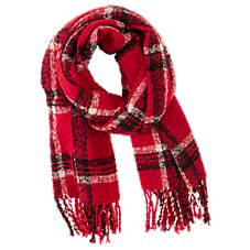 Quagga Boucle Plaid Scarf for Ladies