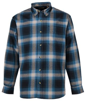 d05a54056 Hobbs Creek Flannel Shirt for Men Blue Ombre S