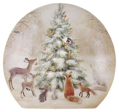 creek lighted round glass vase woodland animals with christmas tree image httpsbassproscene7comisimagebasspro2424113_100023093_is - Lighted Animals Christmas Decoration