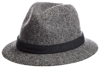 Scala Knit Fedora for Ladies - Charcoal