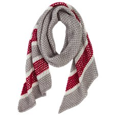 Quagga Candy Cane Knit Scarf for Ladies