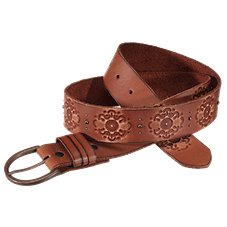 Natural Reflections Antique Buckle Leather Belt for Ladies