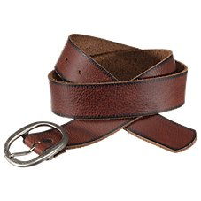 Natural Reflections Oval Buckle Leather Belt for Ladies