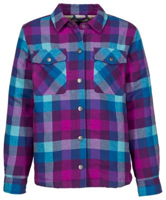 Bass Pro Shops Plaid Sherpa Lined Jacket For Toddlers Teal