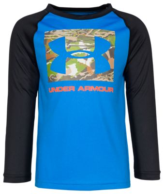 Under Armour Forest Reaper Raglan Shirt for Boys – Mako Blue – 4T
