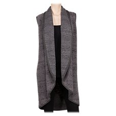 Bob Timberlake Open-Front Shawl Collar Vest for Ladies