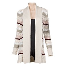 Bob Timberlake Mixed Stitch Cardigan Sweater for Ladies