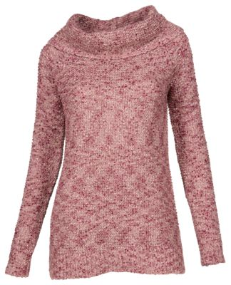 Bob Timberlake Boucle Cowl Neck Sweater for Ladies - Rhododendron - 2XL