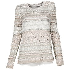 Bob Timberlake Pointelle Open Back Sweater for Ladies