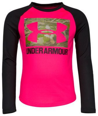 bccd68760 Under Armour Forest Reaper Raglan Shirt for Toddlers or Girls Penta Pink 2T