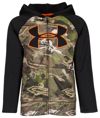 Under Armour Forest Reaper Logo Hoodie for Toddlers or Boys – Black/Ridge Reaper Camo Forest – 3T