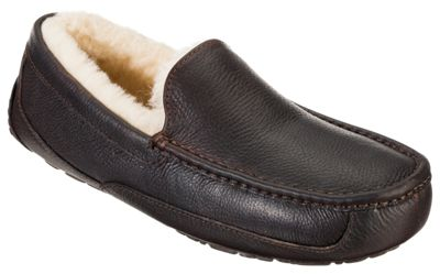 2bbb3b5bd45 UGG Ascot Leather Slippers for Men China Tea 9M