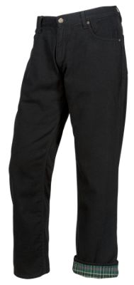 RedHead Flannel-Lined Jeans for Men - Black - 38x30