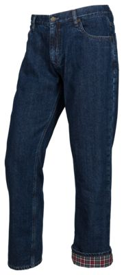 RedHead Flannel-Lined Blue Jeans for Men - Medium Wash - 46x32