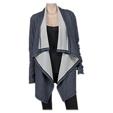 Natural Reflections Double Knit Open-Front Cardigan for Ladies