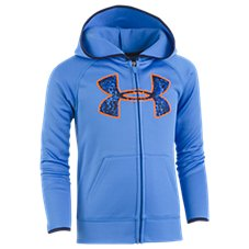 Under Armour Geo Cache Big Logo Full Zip Hoodie for Toddlers or Kids