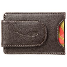 Bob Timberlake Leather Front Pocket Money Clip