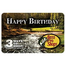 Bass Pro Shops Happy Birthday Gift Card
