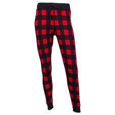 Natural Reflections Thermal Plaid Jogger Pants for Ladies